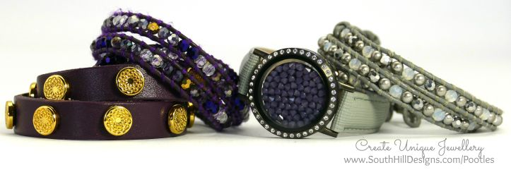South Hill Designs - Silver or Gold with Purple...