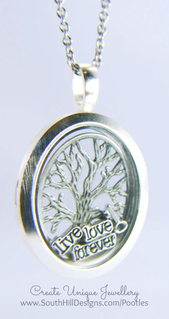 South Hill Designs - Silver Oval and Family Tree