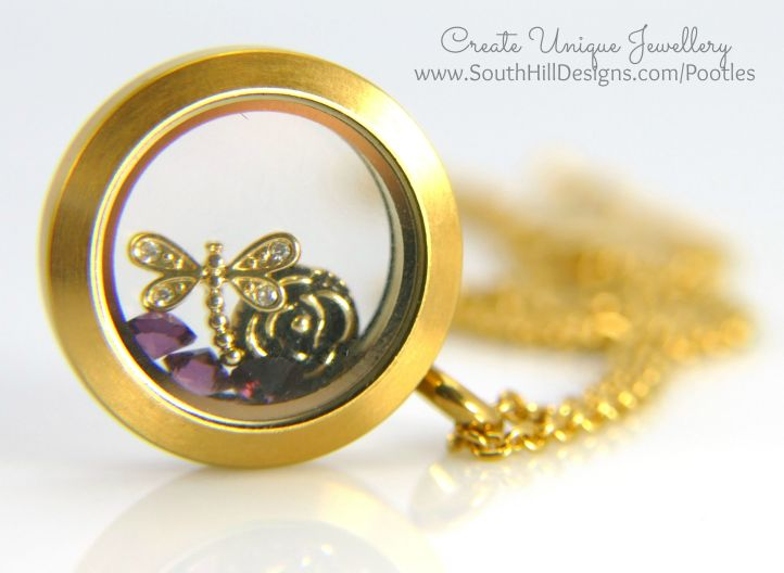 South Hill Designs & Stampin' Up! Sunday Gold and Purple Locket Video