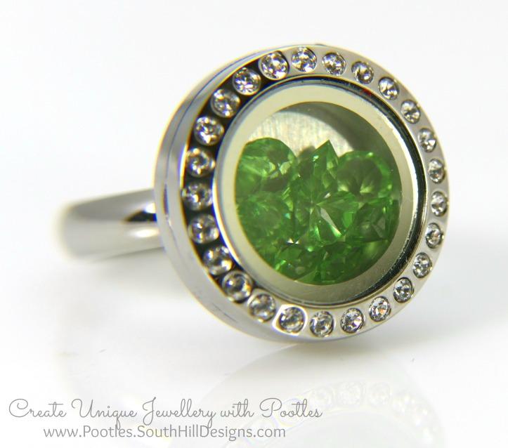 South Hill Designs & Stampin' Up! Sunday Mini Locket Ring