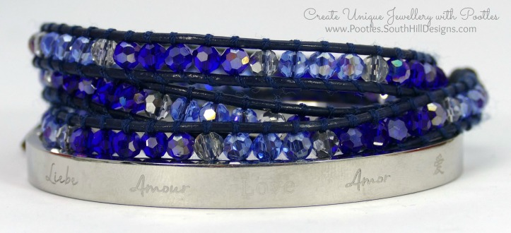 South Hill Designs & Stampin' Up! Sunday New Jewellery plus Bag Tutorial Blue Crystal Wrap and Love Bangle