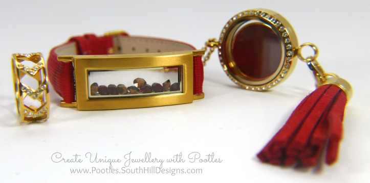South Hill Designs & Stampin' Up! Sunday New Jewellery plus Bag Tutorial Bracelet Locket Ring