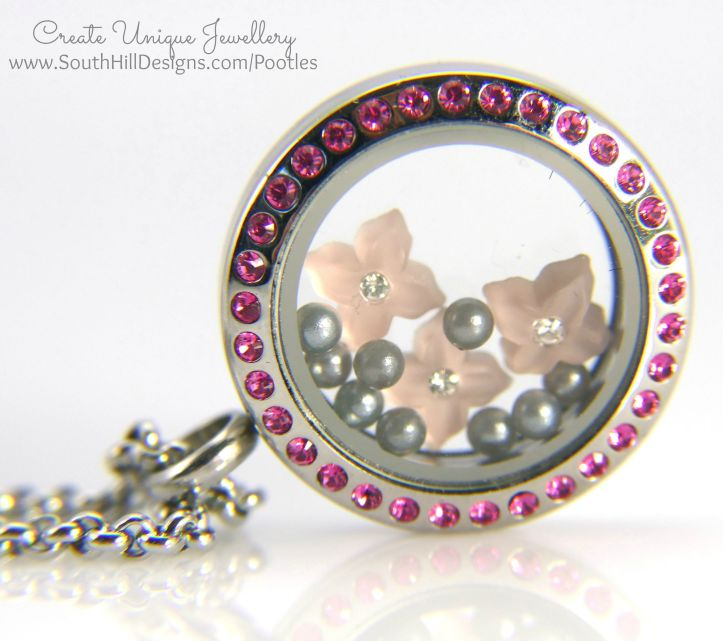 South Hill Designs & Stampin' Up! Sunday Pretty Pink Locket