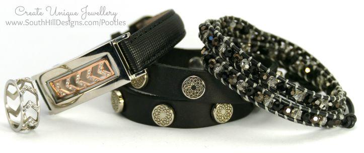 South Hill Designs - Black Bracelets and Wraps