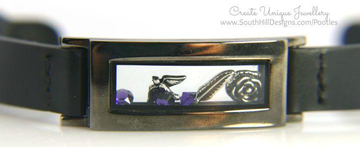 South Hill Designs - Black Vintage Rock! Locket Bracelet