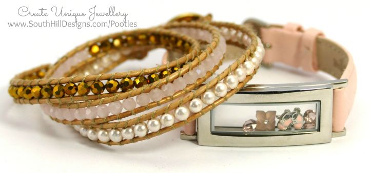 South Hill Designs - Pink Locket Bracelet Look