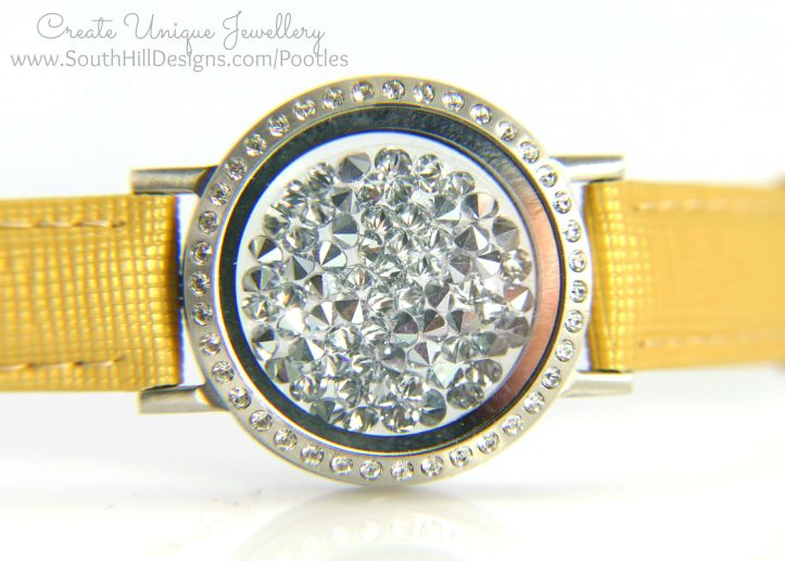 South Hill Designs - Stunning Locket Bracelet Yellow Round
